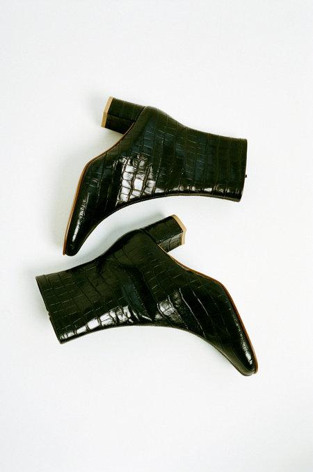 BY FAR Croc Sofia Boots - Black