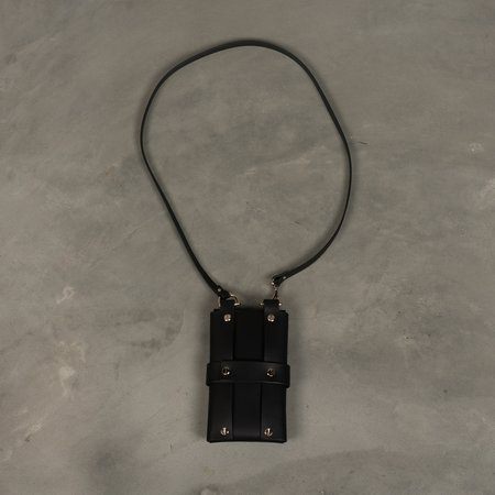 Fleet IIya Neck Pouch - Black/Silver