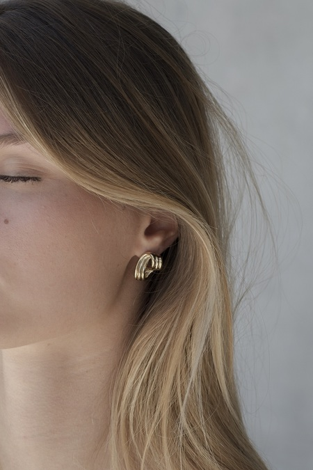 Anne Thomas Lucie Earrings - 24k gold filled