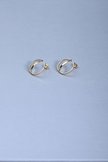 Anne Thomas Suzanne Earrings - 24k Gold