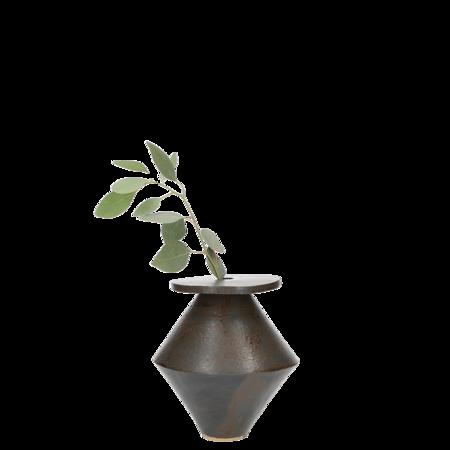 Bzippy & Co. Diamond Vase - Black