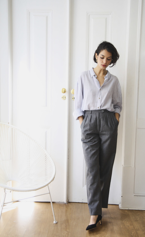 Vintage Tailored Trousers - Grey