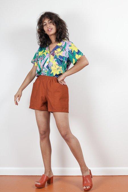 Gravel & Gold Hay Shorts - Clay