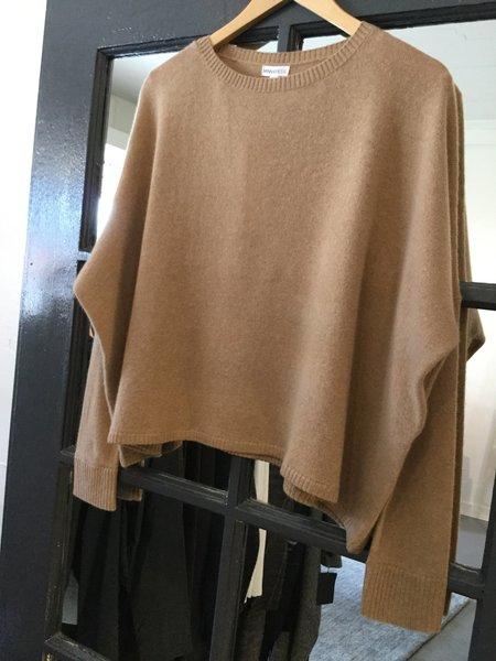 Minnie Rose Cashmere Cropped Boyfriend Sweater