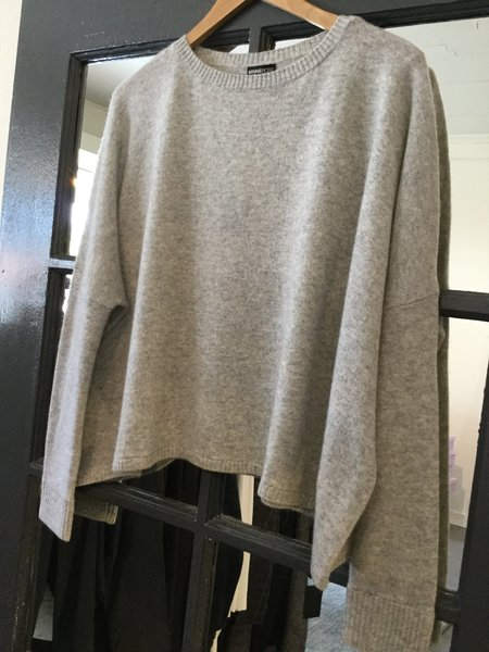 Minnie Rose Cashmere Cropped Boyfriend Sweater