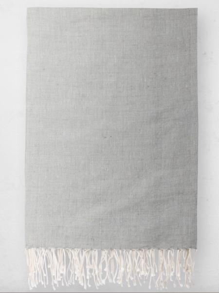 Bole Road Textiles Solid Throw - Pumice