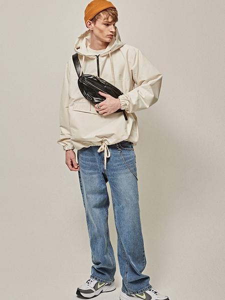 YAN13 Washing Long Wide Jeans - Denim