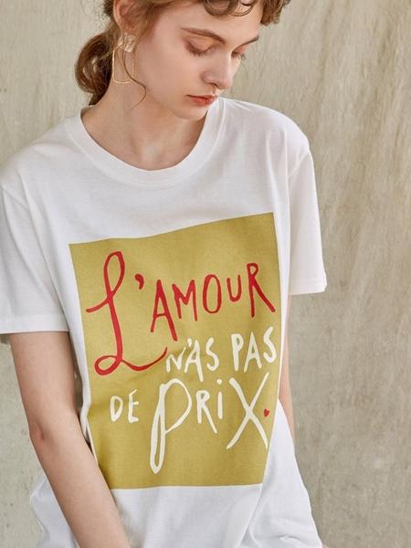 YAN13 Square Half T-shirt  - White