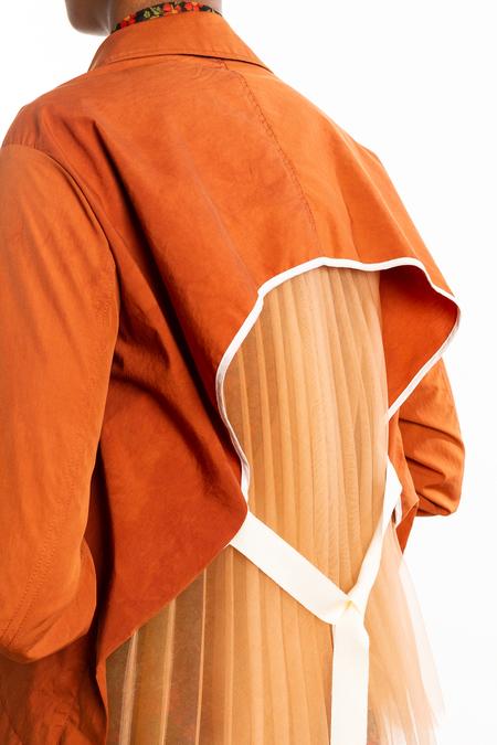 SHAN SHAN RUAN Back Pleated Jacket - Orange