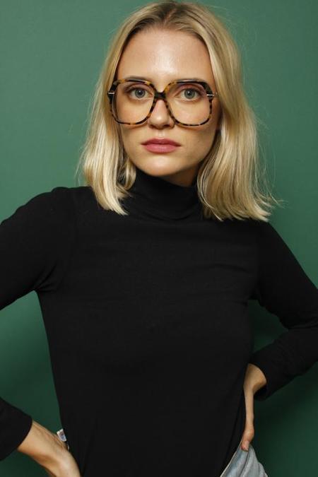 Karen Walker Harriet Crazy Tortanti Blue Light Eyewear