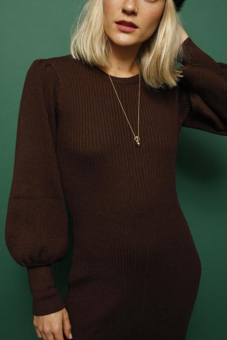 Lush Maisie Sweater Dress - Brown