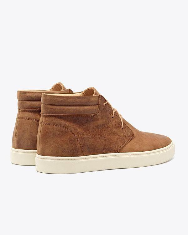 Nisolo Cortez Mid Top Sneaker - Tobacco