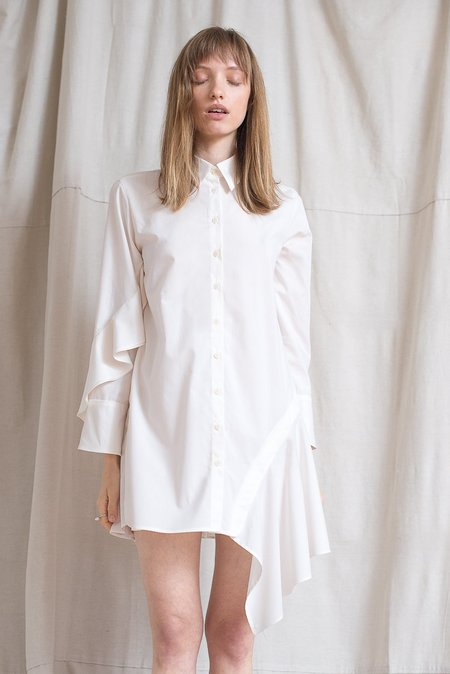 LOCLAIRE Oyster Shirtdress - Cloud