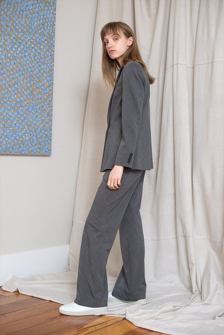 LOCLAIRE Slanted Pant - Charcoal Check