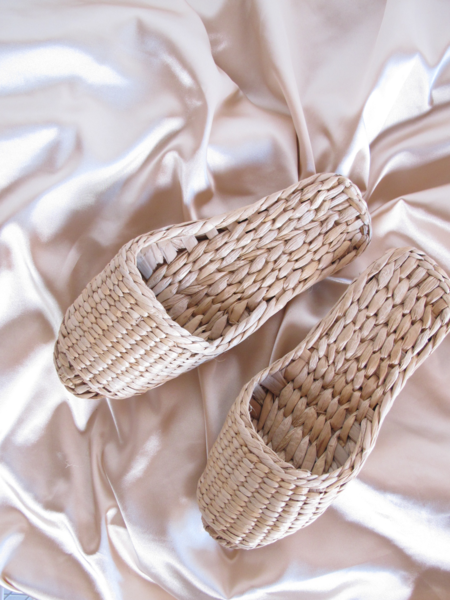 Folk Fortune Straw Sandal Slippers