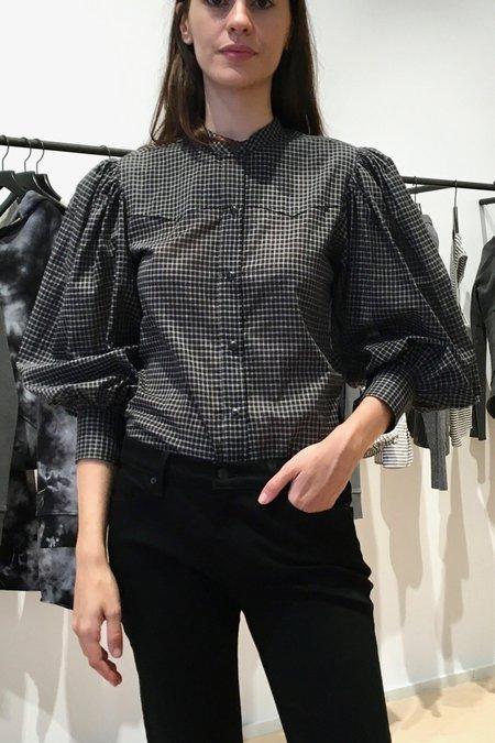 Nili Lotan Maisie Shirt - BLACK CHECK