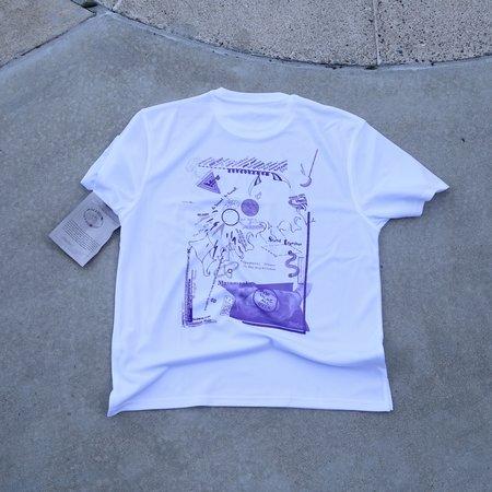 unisex die blaue distanz LA Edition LILA-X-BASE Memorial T-Shirt - white
