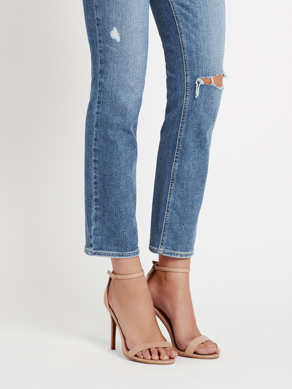 Paige Cindy Linear Coin Pocket Jean - Light Denim