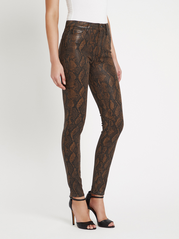 Paige Hoxton Ultra Skinny Jean - Brown Snake