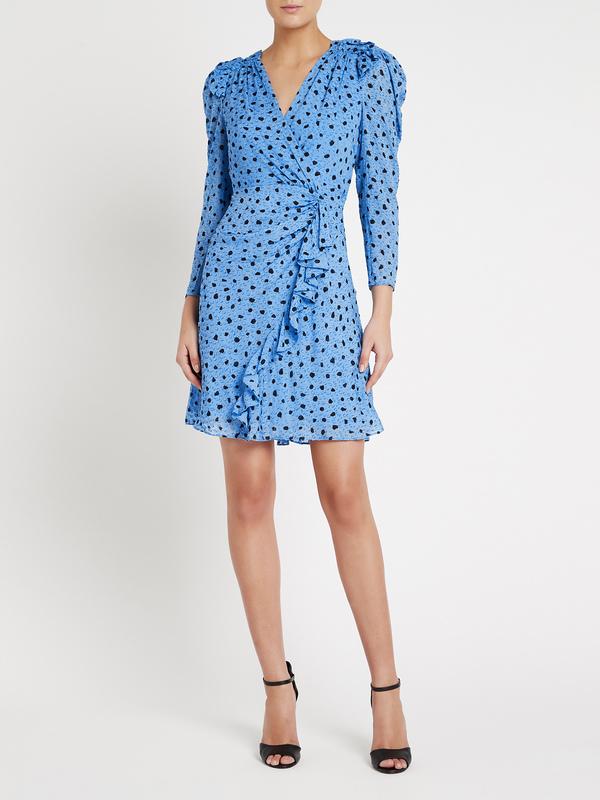 Rebecca Taylor Nova Dot Clip Dress - True Blue