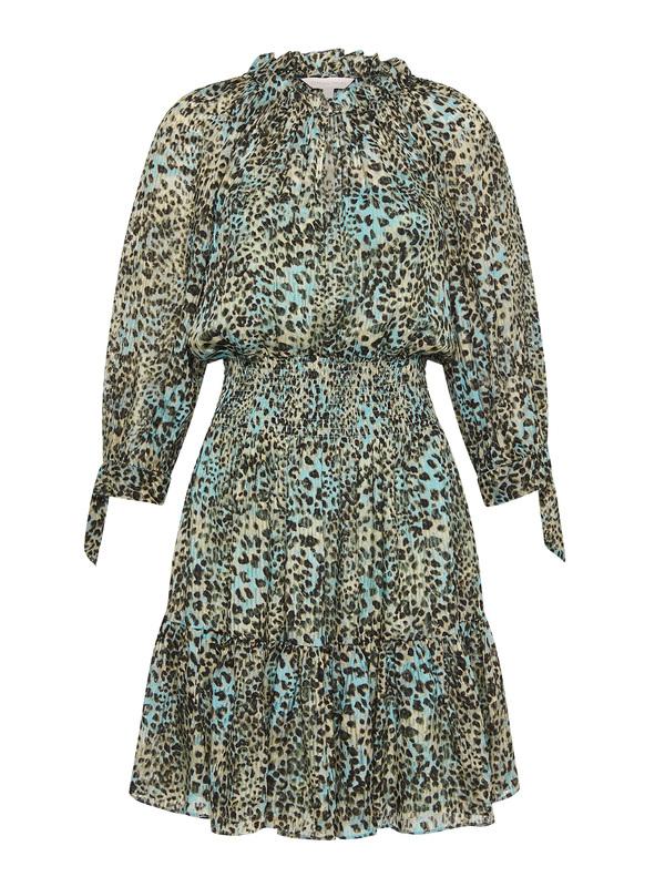 Rebecca Taylor Lynx Silk Burnout Dress - green