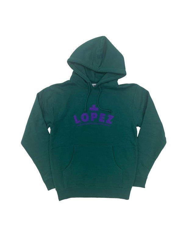 Lopez Logo Pullover - Purple/Green