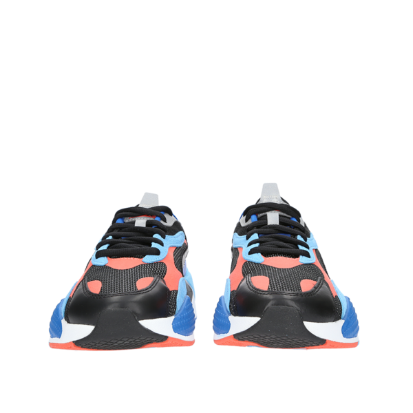 Puma RS-X3 Level Up Sneaker - Black/Hot Coral