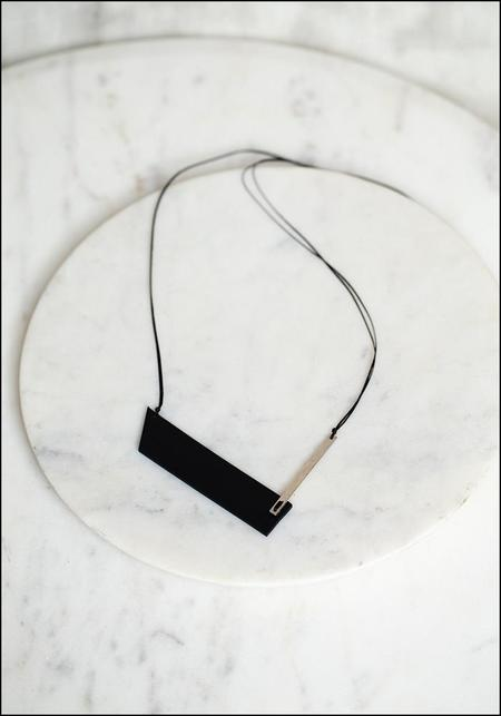 AUMORFIA Leather V Bar Pendant Necklace