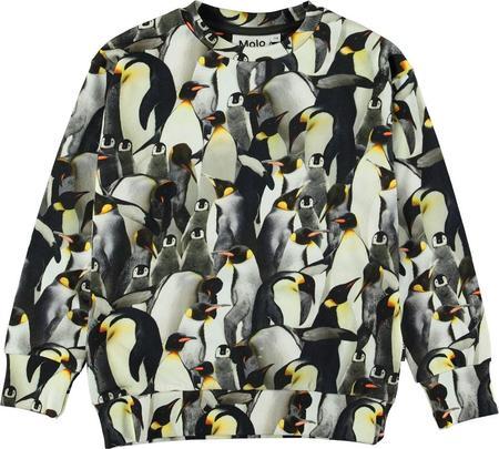 kids molo madsim sweatshirt - penguins galore