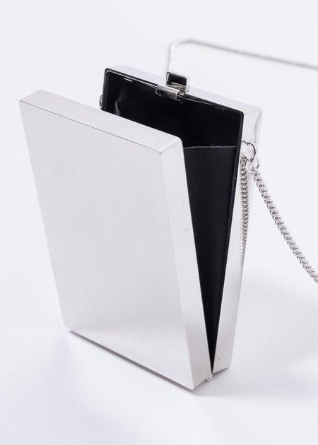 Ambush Metal Card Case Shoulder Bag - Silver