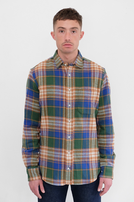 Gitman Bros. Oregon Flannel Shirt - Green/Brown