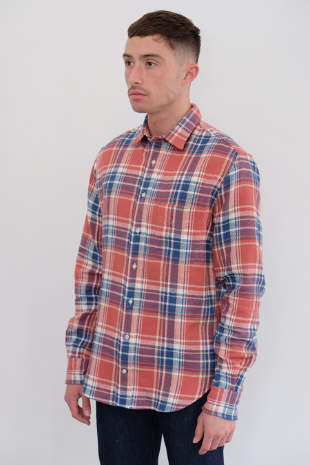 Gitman Bros. California Flannel Shirt - Red/Blue