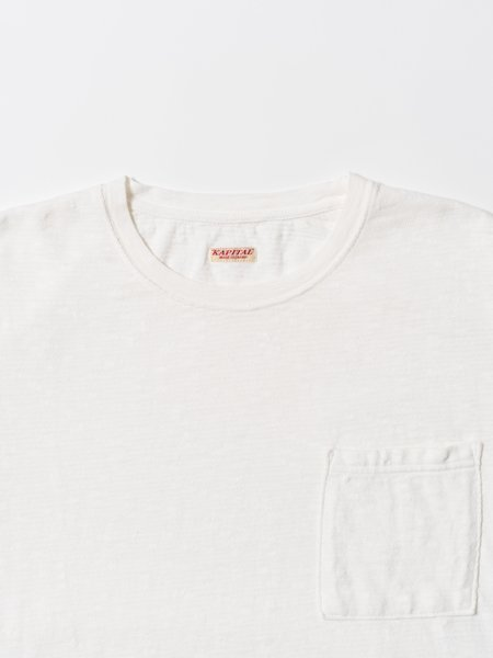Kapital Amuse Knit Pocket Long Sleeve T-Shirt - White