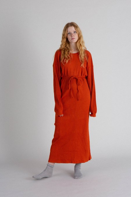 Baserange Shaw Kaftan Dress - Orange