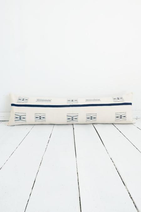 Karu Nagaland Lumbar Pillow - Ivory/Midnight