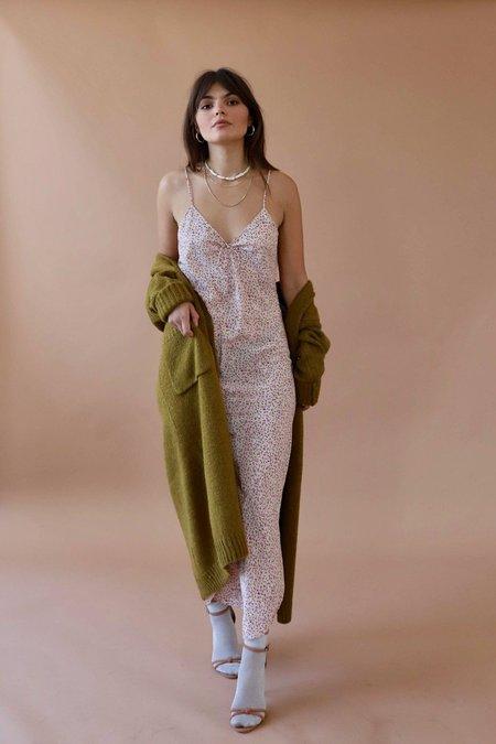 Vintage Floral Slip Dress - Blush