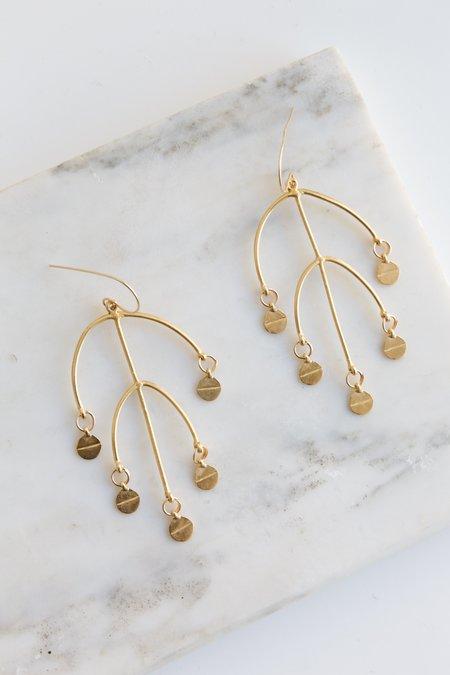 Takara Golden Sun Earrings - bronze