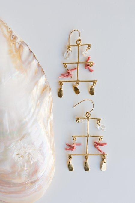 Takara Rising Sea Earrings - coral