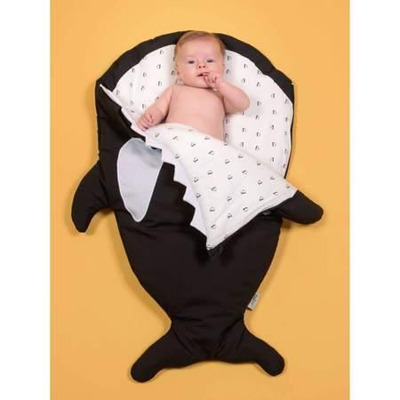 Kids Baby Bites Orca Whale Winter Sleep Sack - Black
