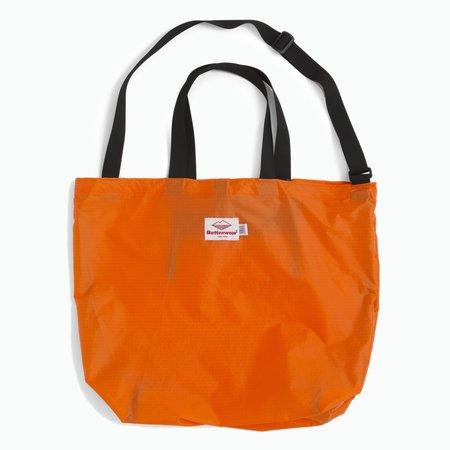 Unisex Battenwear Packable Tote - Orange/Black