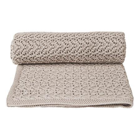 kids Garbo & Friends Crochet Blanket - Beige