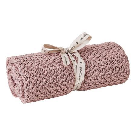 kids Garbo & Friends Crochet Blanket - Berry