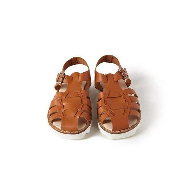 kids Sonatina Bobo Leather Sandals - Cognac