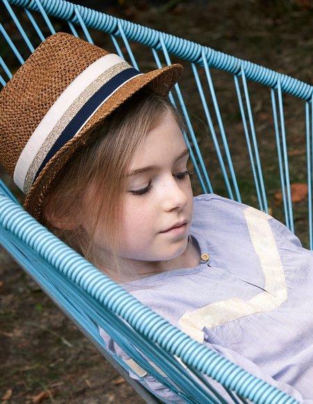 kids Blune Brigitte Hat - Navy/Lurex