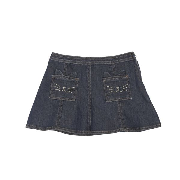 KIDS Émile et Ida Cat Skirt - Dark Denim