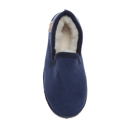 kids Babbi Charentaise Slippers - navy suede