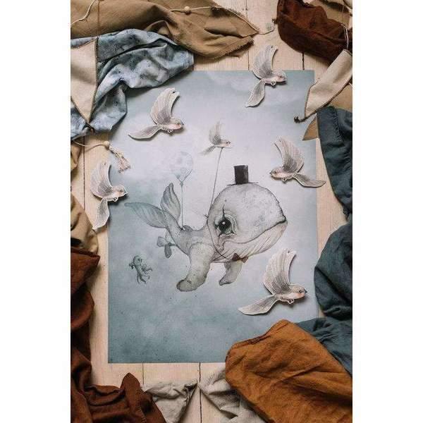 Kids Mrs. Mighetto Dear Whalie Limited Edition Print