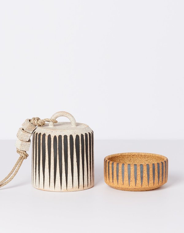 MQuan Small Wide Thrown Bell - Black Stripe
