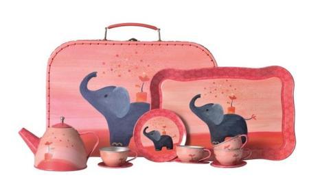 kids Egmont Elephant Tin Tea Set