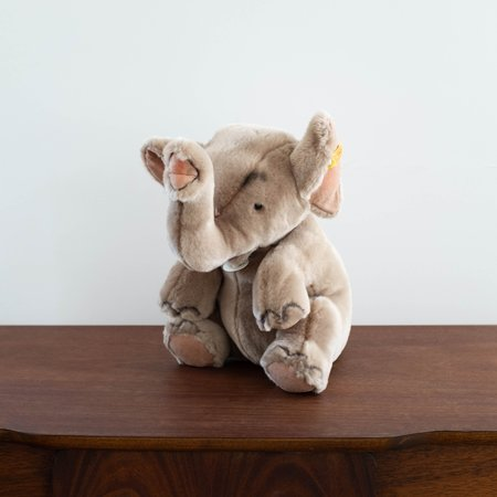 Kids Steiff Hubert Elephant Collectible Doll - Grey